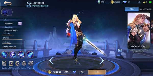 13 Kata-kata Lancelot Mobile Legends dan Artinya